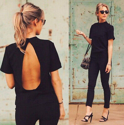 Loose Top T-Shirt Short Sleeve Blouse Fashion Women Ladies Casual New Summer