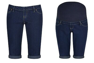 Womens, Ladies Maternity Denim Shorts With and Without bump liner Size 6 - 20