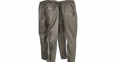 Nash Tackle NEW Fishing Green Waterproof Packaway Trousers *All Sizes*