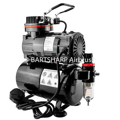 TC80T Airbrush Compressor + 3 Litre Tank  For Airbrushing Art 1/5th HP Motor