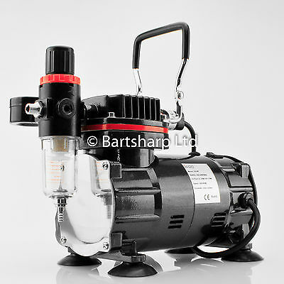TC802 Airbrush Compressor For Airbrushing Art Modelling Painting 1/5th HP Motor