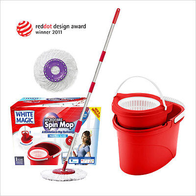 White Magic Spin Mop - Hand System - NEW & IMPROVED - GENUINE & CHEAPEST