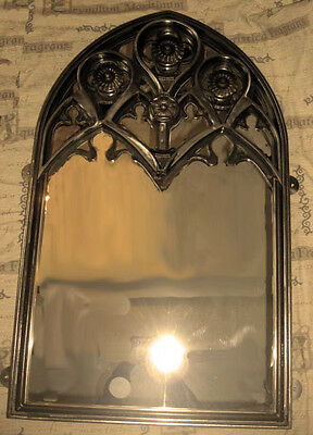 Church Tracery Iron Arched Mirror, Church Style Mirror, Gothic Tracery Mirror