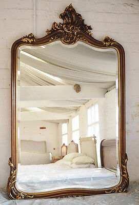 Large 19th Century Antique French Walnut Louis XV mirror