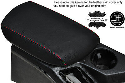 Red Stitching Leather Armrest Lid Cover Fits Bmw X1 E84 2009-2015