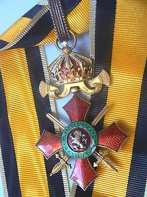 BULGARIA, KINGDOM ORDER OF MILITARY MERIT. COMMANDER,gold gilt and enamels, 1900
