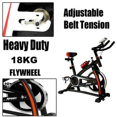 2018 Heavy Duty 18KG Flywheel Exercise Bike Cycle Home Fitness Gym LED Monitor