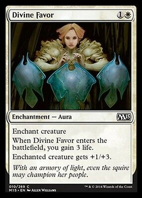 4x Benevolenza Divina - Divine Favor MTG MAGIC 2015 M15 Eng/Ita