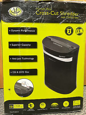 Gear Head Paper Shredder PS1200CXB with Disc Slot