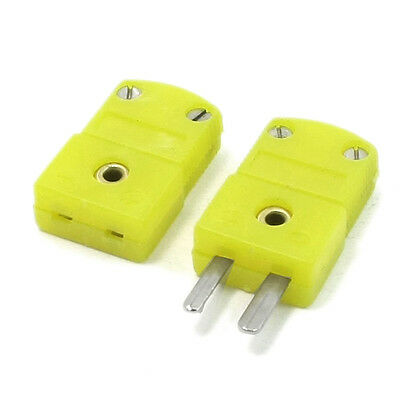 20X(Yellow Plaic Shell K Type Thermocouple Plug Socket Connector Set)2016