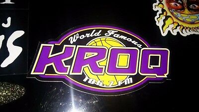 KROQ lakers style sticker