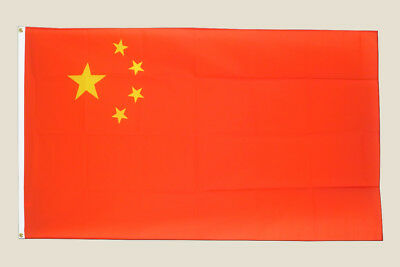China 3x5 Flag Red Yellow Stars Polyester 2 Brass Grommets Chinese Asia