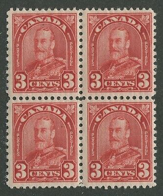 Canada #167 Mint Block Of 4 F/Vf Nh