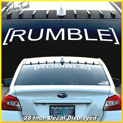Rumble Vinyl windshield decal sticker Subaru Evo WRX STI JDM Hoonigan toyo tires