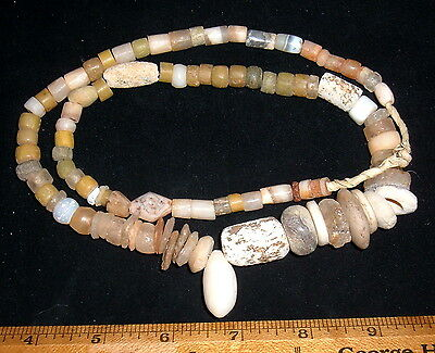 Full String of Select Sahara Neolithic Stone Beads Prehistoric African Artifacts