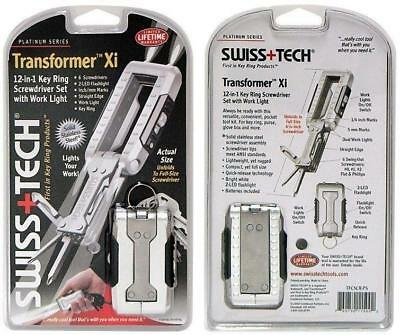 Swiss+Tech TFCSCR-PS Transformer Xi KeyChain MultiTool with LED Flashlight