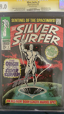 Silver Surfer #1 Signed by Stan Lee CGC Graded 9.0