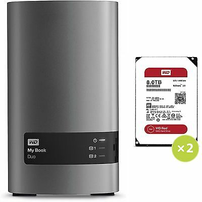Western Digital WD My Book Duo 2Bay 16TB RAID Storage USB3.0 External Hard Drive