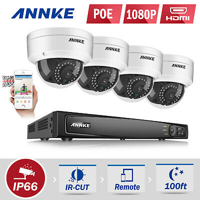 ANNKE 1080P POE 8CH 5MP NVR IP Network WDR Home Security Camera System 2MP Video