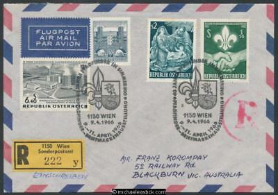 Austria 1966 (Apr) Scout stamp exhibition, 40th anniv of scouting in Simmering