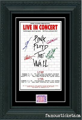 "Pink Floyd ""The Wall""tour Concert Poster & Ticket set Ready to frame! SIGNATURES"