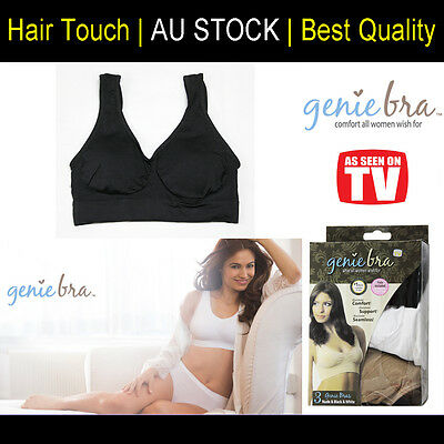 One Genuine Genie Bra Comfort Support Seamless Shapewear Black