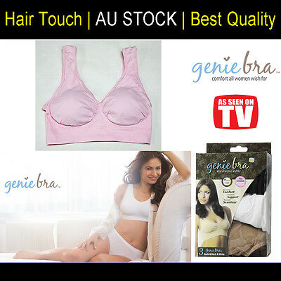 One Genuine Genie Bra Comfort Support Seamless Shapewear Pastel Pink