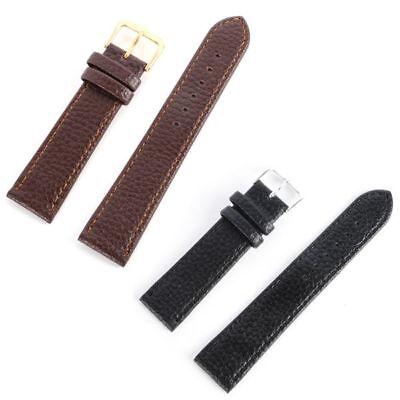 12-22 mm Unisex Watch Band Leather Strap Black Brown Womens Mens Belt Hot Sale