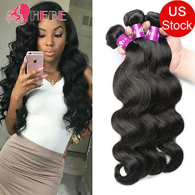 Malaysian Human Hair Weave Body Wave Hair Extensions 3 Bundles 300g Soft 7A HEBE
