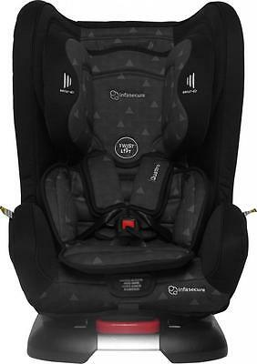 Br New Infasecure Quattro Treo Convertible Kid Baby Car Seat 0-4 years Ebony