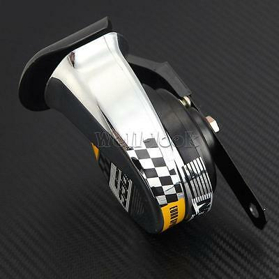 510Hz 12V Chrome Motorcycle Air Horn Tone Loud Fit Electric Bike Motor Universal