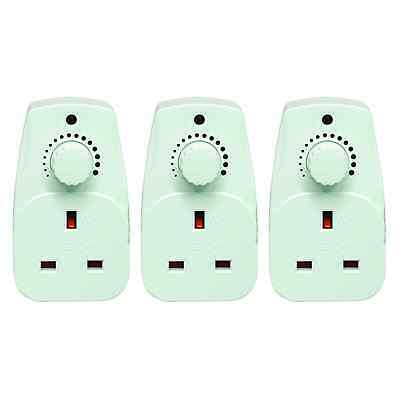Eagle Plug in Dimmer 13A Adjustable Light Control Switch x3