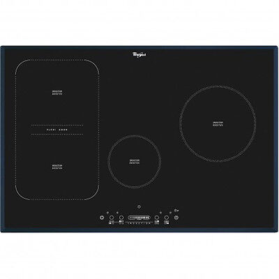 WHIRLPOOL  ACM 814 BA Build In Black Glass Kitchen Induction Hob Brand New!!