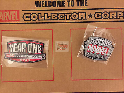 """YEAR ONE """"PIN & PATCH"""" Mystery BOX SDCC Marvel Collectors Corps FUNKO 2016"""