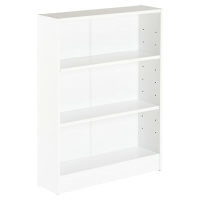Hartleys 3 Tier White Wooden Freestanding Bookcase/bookshelf Storage Unit Shelf