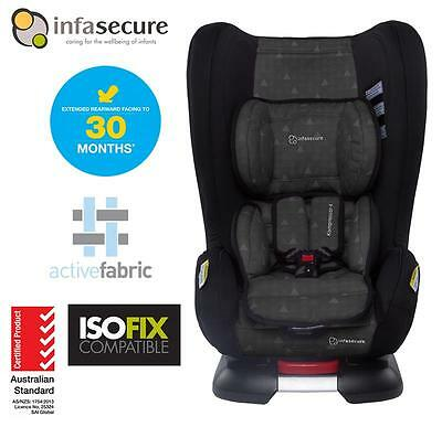 Infasecure Kompressor 4 Treo Isofix Convertible Kid Baby Car Seat 0-4 years BLK