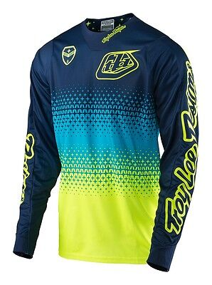 Troy Lee Designs 2017 SE Jersey Starburst Flo Yellow/Navy Mens All Sizes