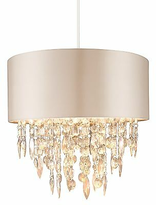 Modern Mocha Easy Fit Fabric Ceiling Pendant Light Lamp Shade Lampshades Shades