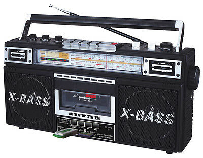 QFX Radio & Cassette Tape Converter Recorder to Digital MP3 on USB/SD Player SW1
