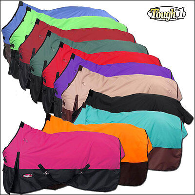 Tough 1 600D Waterproof Poly Turnout Cold Winter Horse Blanket Surcingles 250Gsm