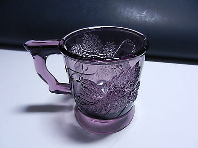 "LG Wright Strawberry & Currant Handled Mug Amethyst 3 3/8""  T"