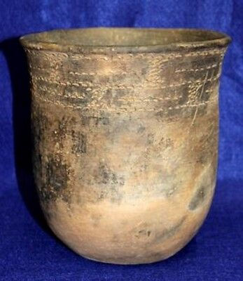 Vintage Antique Circa 800-1200AD Clark Co., AR., Caddo Brushed Jar Pottery