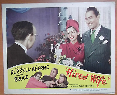 Hired Wife, Original Lobby Card #8, Rosalind Russell, Brian Aherne, '48