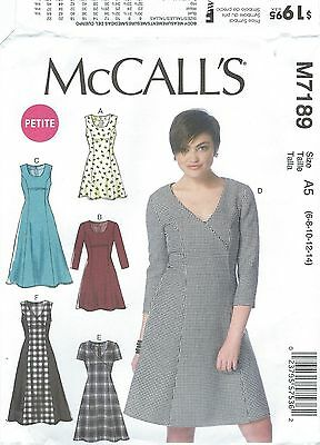 McCall's 7189 Misses'/Miss Petite Dresses   Sewing Pattern