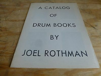 A Catalog of Drum Books by Joel Rothman