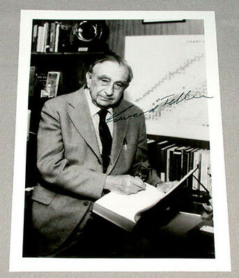 Original Edward Teller Physicist Father of The H Bomb Signed Photo