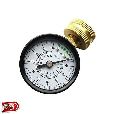 SALE Rain Bird 3 inch P2A Water Pressure Gauge Irrigation Parts Gauges