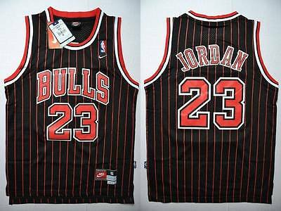 NBA Swingman Jersey MICHAEL JORDAN # 23 BULLS  Basketball Retro Black Red S/M/L