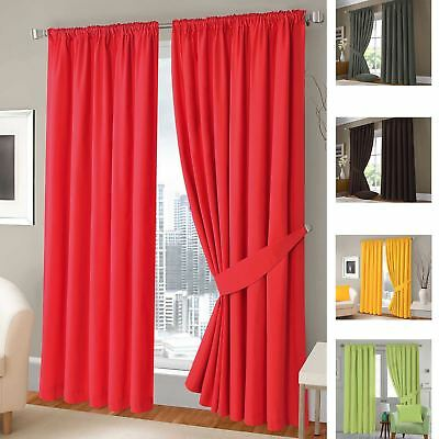 """Fully Lined 3"""" Tape Top Plain Half Panama 2-Type Solar Thermal Blackout Curtains"""