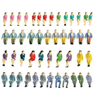 BEST 50Pcs Painted Figures Train Passengers Model Seated People Layout 1:50 U2P5